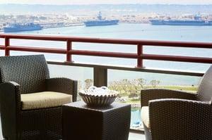 Balcony at the Marriott Marquis San Diego Marina