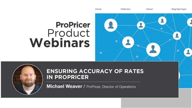 Product Webinar cover_Ensuring Accuracy of Rates in ProPricer